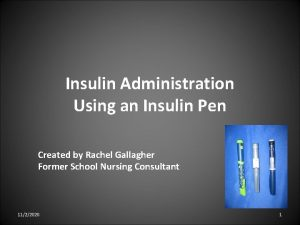 Insulin Administration Using an Insulin Pen Created by