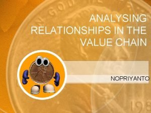 ANALYSING RELATIONSHIPS IN THE VALUE CHAIN NOPRIYANTO Relationships