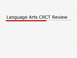 Language Arts CRCT Review Question 1 It will