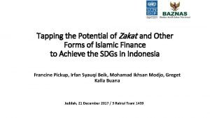 Tapping the Potential of Zakat and Other Forms