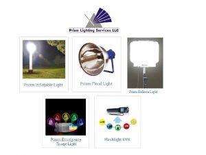 Prism Balloon Light PRISM LIGHTING PRODUCT PORTFOLIO Prism