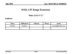 July 2020 doc IEEE 802 11 200965 r