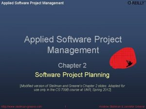 Applied Software Project Management Chapter 2 Software Project