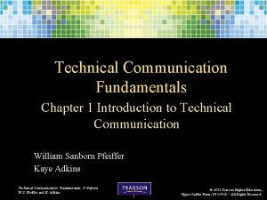 Technical Communication Fundamentals Chapter 1 Introduction to Technical