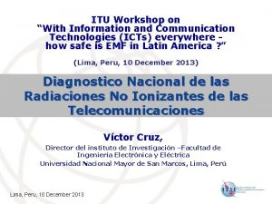 ITU Workshop on With Information and Communication Technologies