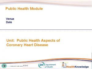 Public Health Module Venue Date Unit Public Health