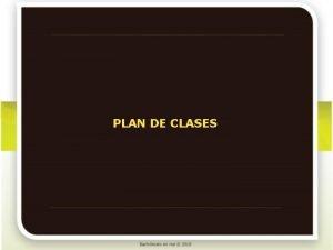 PLAN DE CLASES Qumica II Plan de clases