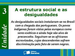 Unidade 3 A estrutura social e as desigualdades