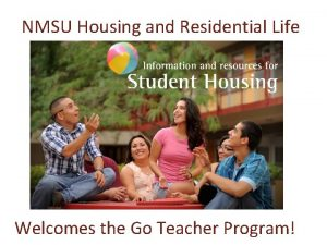 NMSU Housing and Residential Life Welcomes the Go