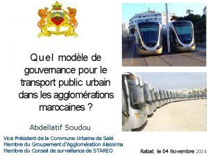 Quel modle de gouvernance pour le transport public