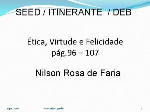 SEED ITINERANTE DEB tica Virtude e Felicidade pg