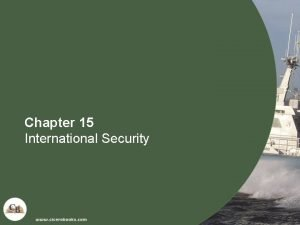 Chapter 15 International Security International Security n International