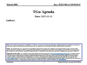 March 2005 doc IEEE 802 11 050152 r