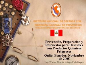 INSTITUTO NACIONAL DE DEFENSA CIVIL DIRECCIN NACIONAL DE