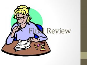 Final Review Chapters 1 5 Types of agencies