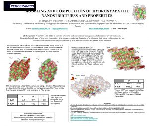 MODELING AND COMPUTATION OF HYDROXYAPATITE NANOSTRUCTURES AND PROPERTIES