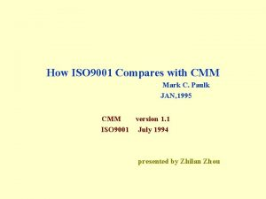 How ISO 9001 Compares with CMM Mark C