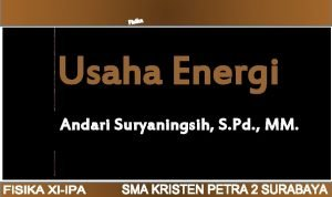USAHA ENERGI SKKD Usaha Energi PENGANTAR MATERI SOAL