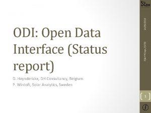 16052018 ESA FP Days ESTEC ODI Open Data