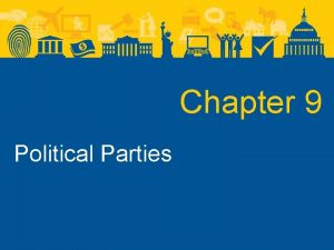 Chapter 9 Political Parties Political Parties What Are