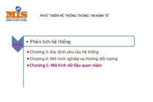 PHT TRIN H THNG THNG TIN KINH T