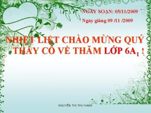 NGY SON 05112009 Ngy ging 09 11 2009