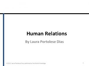 Human Relations By Laura Portolese Dias 2012 Laura