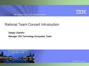 IBM Software Group EGL Simplify Innovation Rational Team