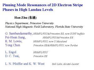 Pinning Mode Resonances of 2 D Electron Stripe