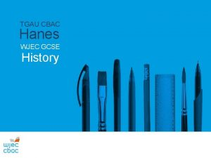 TGAU CBAC Hanes WJEC GCSE History Recordior Sain