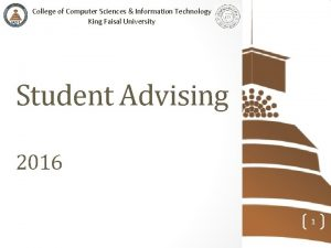 College of Computer Sciences Information Technology King Faisal