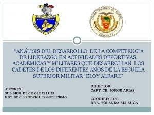 ANLISIS DEL DESARROLLO DE LA COMPETENCIA DE LIDERAZGO