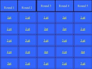 Round 3 Round 4 Round 5 Round 1
