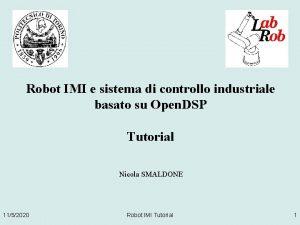 Robot IMI e sistema di controllo industriale basato