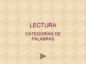 LECTURA CATEGORAS DE PALABRAS GATO MONO RATN CASA