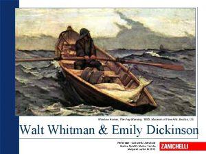 Winslow Homer The Fog Warning 1885 Museum of