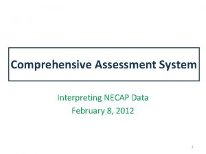 Comprehensive Assessment System Interpreting NECAP Data February 8