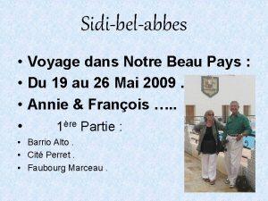 Sidibelabbes Voyage dans Notre Beau Pays Du 19