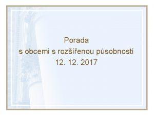 Porada s obcemi s rozenou psobnost 12 2017