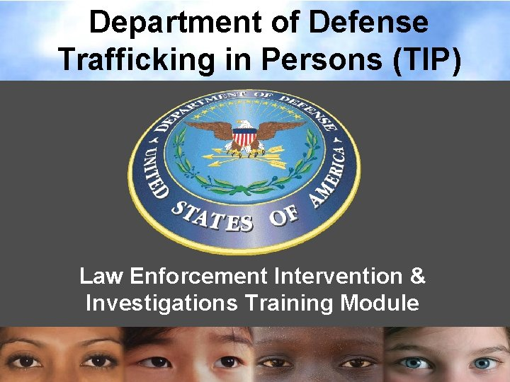 Department of Defense Trafficking in Persons TIP Law