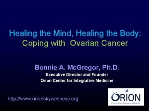 Healing the Mind Healing the Body Coping with
