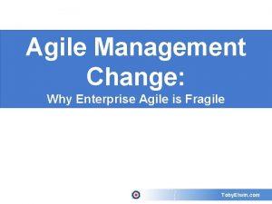 Agile Management Change Why Enterprise Agile is Fragile
