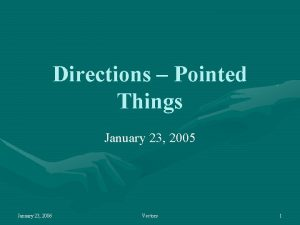 Directions Pointed Things January 23 2005 January 23
