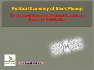 Political Economy of Black Money Undisclosed Economy National