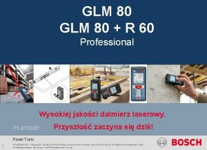 Launch package GLM 80 R 60 Professional GLM