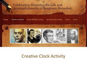 Creative Clock Activity Creative Clock Instructions Your activity