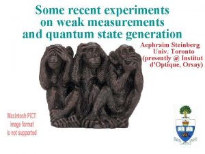 Some recent experiments on weak measurements and quantum