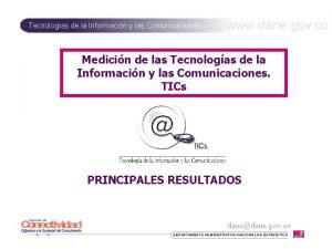 Tecnologas de la Informacin y las Comunicaciones www