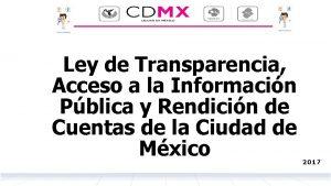 Ley de Transparencia Acceso a la Informacin Pblica