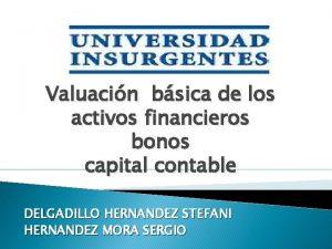 Valuacin bsica de los activos financieros bonos capital